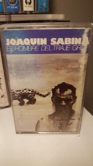 cassete..Joaquín Sabina..El Hombre Del Traje Gris.