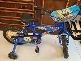 Bicicleta niños/as bop esponja