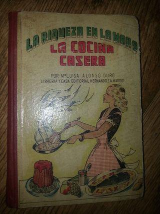 libro antiguo recetas de cocina