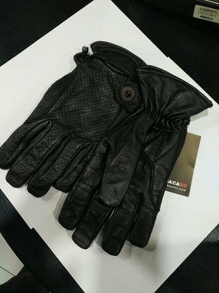 guantes kum moto piel