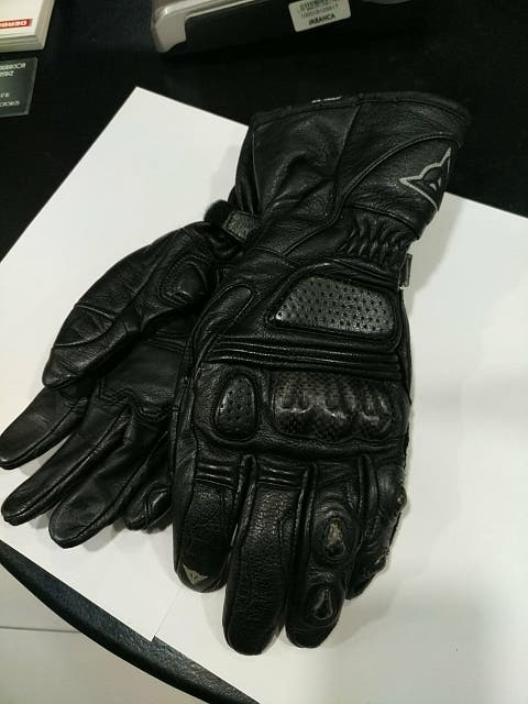 guantes dainese piel carbono