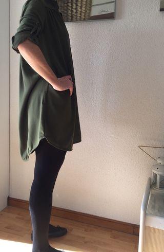 Vestido verde Renatta talla XL.