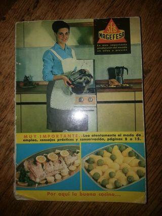 libro antiguo recetas de cocina magefesa