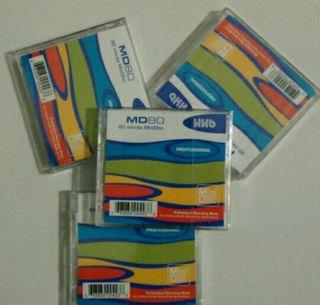 Mini Disc HHB. empaquetados, nuevos
