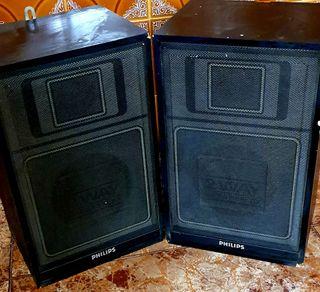 2 Bafles Madera Philips 2 vías a 5€ cada uno (Más artículos imagen y sonido en mi perfil