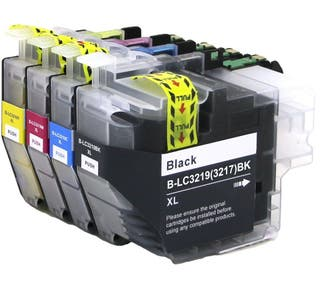BROTHER LC-3217 PACK 4 CARTUHCOS COMPATIBLES