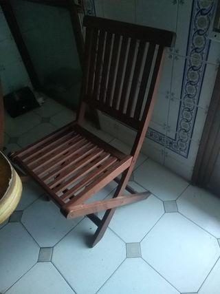 sillas de terraza 3 unidades