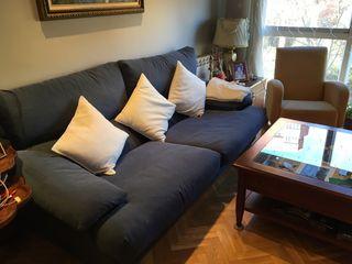 Sofa de 3 plazas azul