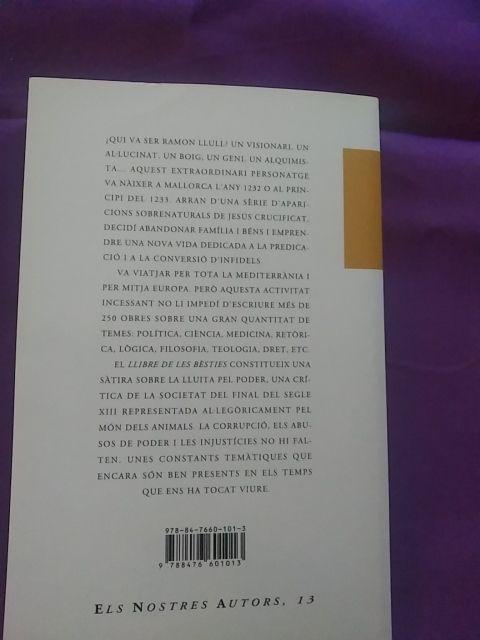 Llibre de les besties .Ramón Llull