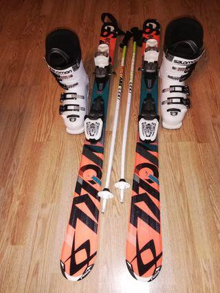 Esquís+botas+palos