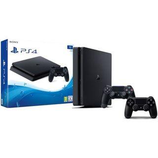 PS4 Slim de 1tb con 2 Mandos + 2 juegos