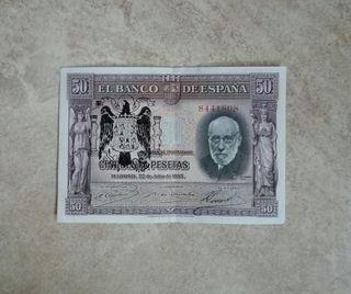 50 pesetas de 1935