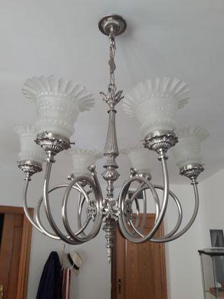 lampara antigua restaurada