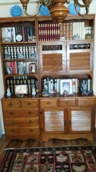 Conjunto Mueble Rustico 4 Sillas y Mesa