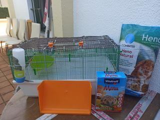 Jaula erizo, conejo, cobaya, hamster