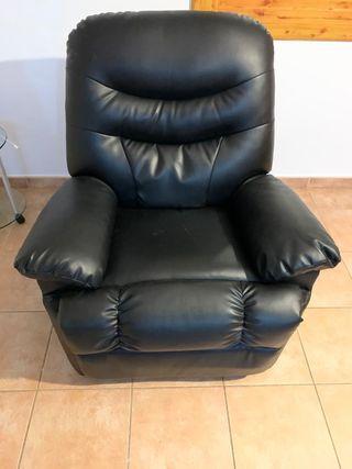 Sofá de piel con motor para masajes extensible