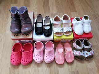 Lote de zapatos niña talla 22