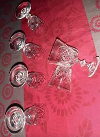 12 copas de cristal