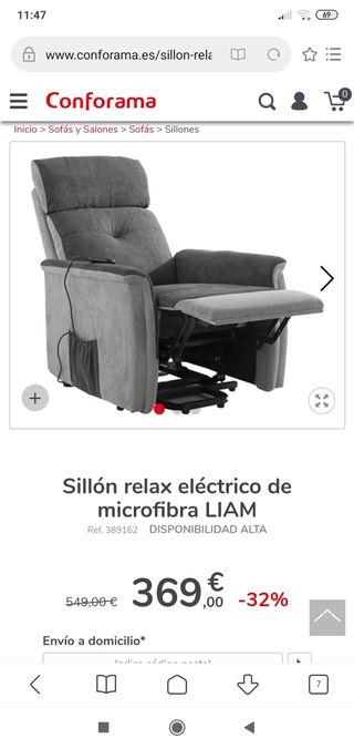 sillon relax electrico Nuevo! rebajado!