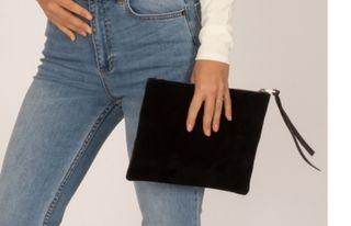 clutch bolso negro Amuse Society nuevo