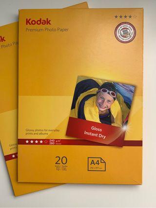 Papel fotográfico Kodak impresion premium A4