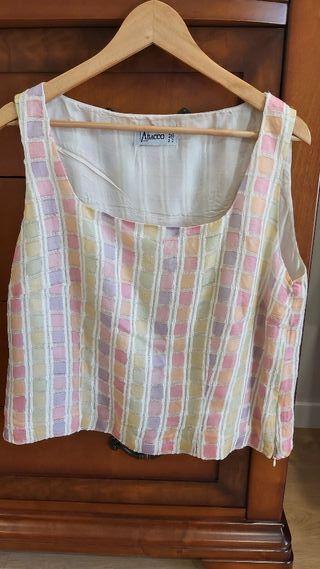 Top / camiseta de tirantes con tonos pastel