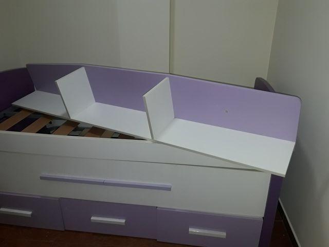 Cama con cama supletoria + nido