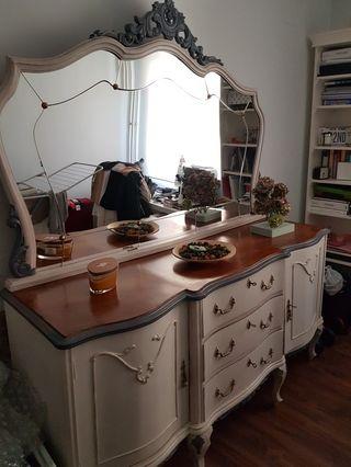 Aparador restaurado, mueble para salón vintage