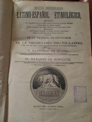 Diccionario Latino Español Etimologico 1878