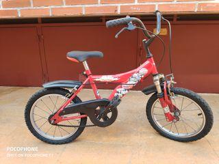bicicleta infantil de cars