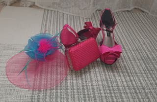 Zapatos de lazitos, Cartera y Tocado