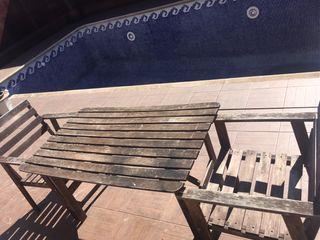 Conjunto mesa y sillones