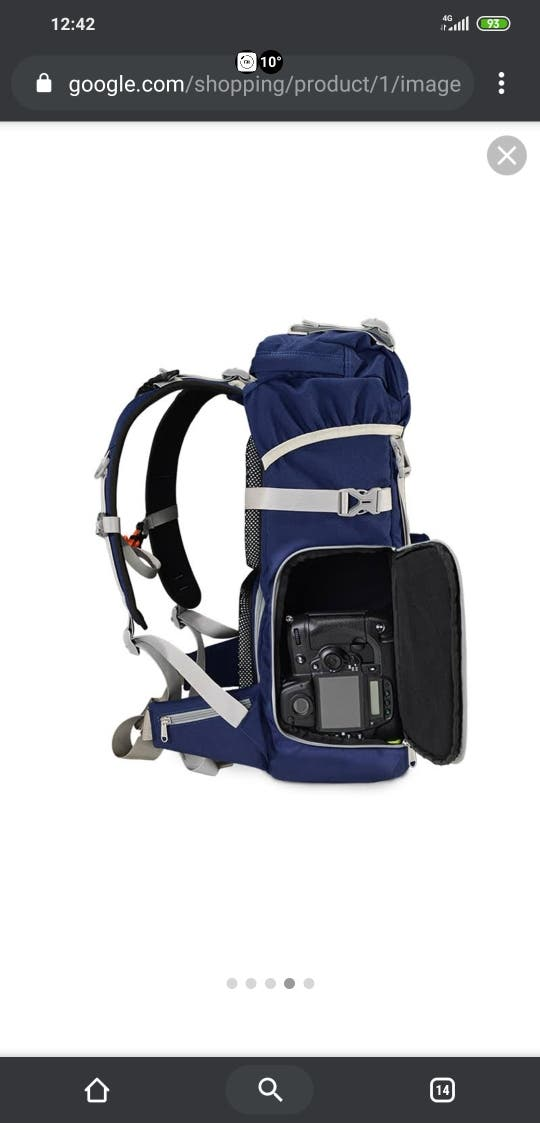 mochila fotografica reflex trekking