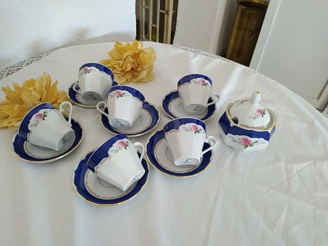 TAZAS DE CAFE PORCELANA ALEMANA