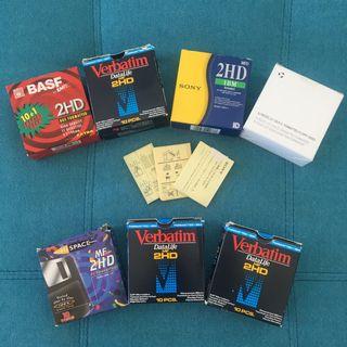 7 cajas de diskettes-disquetes de 3.5 pulgadas