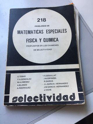 MATEMATICAS FISICA Y QUIMICA SELECTIVIDAD
