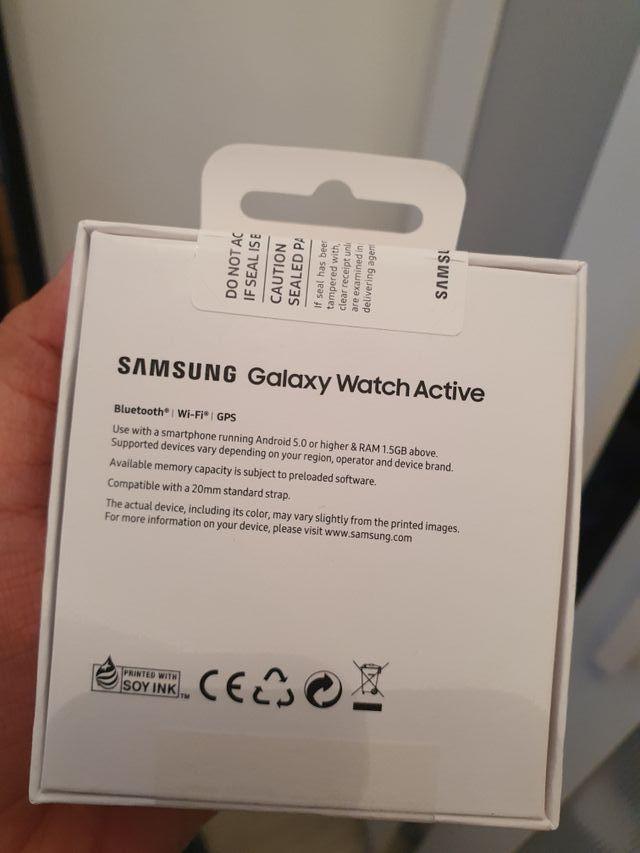 Samsung Galaxy Watch Active Sealed Box.
