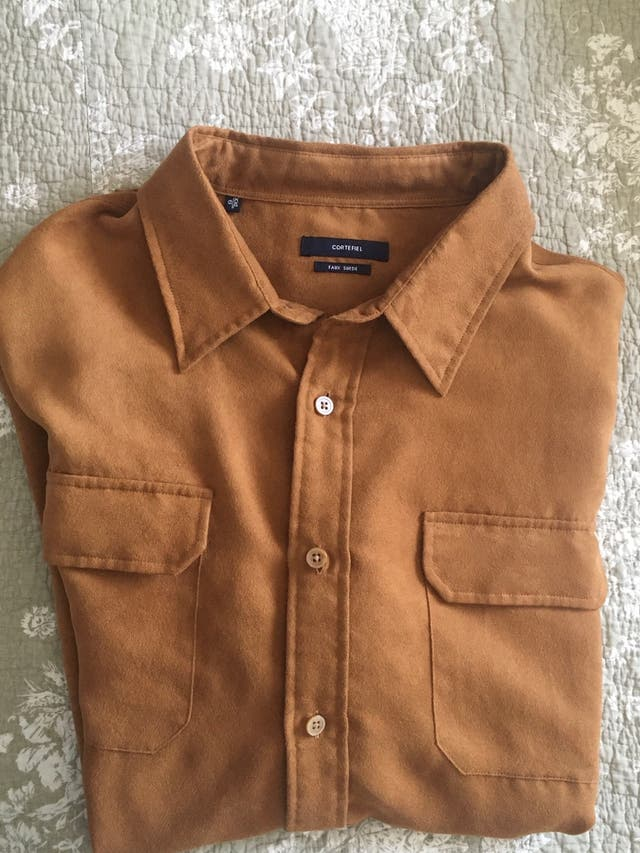 Camisa hombre tipo antelina cortefiel