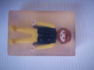 jabon de glicerina con playmobil