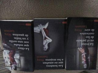 Colección libros de Stieg Larsson y Tom Clancy