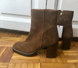 Preciosos botines ante marrón Zara nuevos