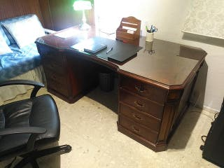 mesa despacho clasica inglesa