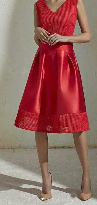 Vestido rojo Javier Simorra a estrenar