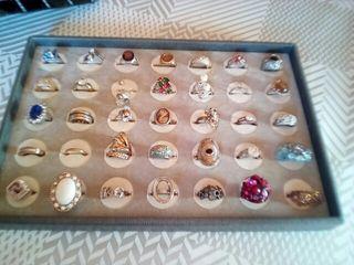 lote anillos 35