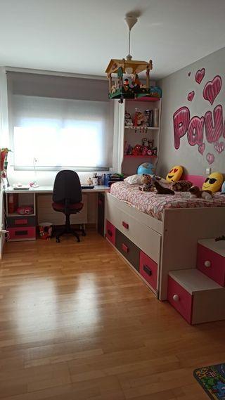 Habitación juvenil completa Blanca y Rosa