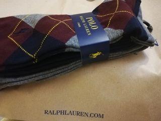 x3 calcetines Ralph Lauren Nuevos