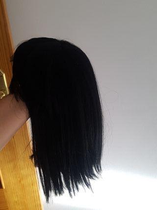 Peluca sintetica negra