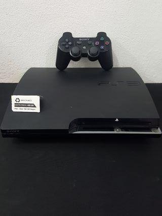 PS3 Slim 160GB Negra Completa