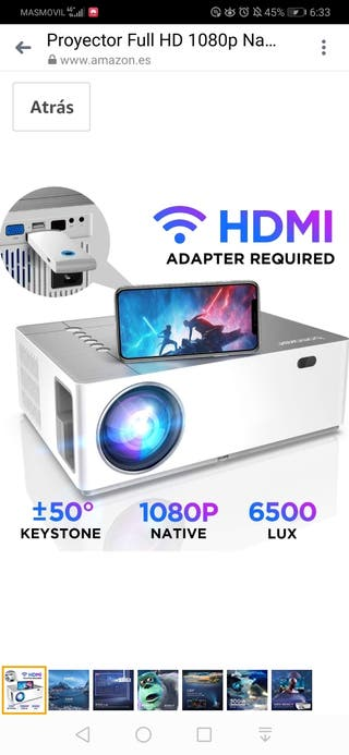 Proyector Full HD 1080p Nativo 6500 Lúmenes