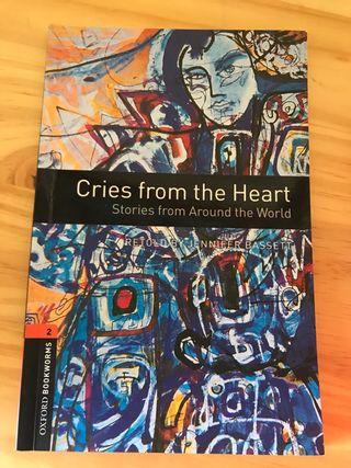 """libro de lectura en inglés """"cries from the heart"""""""